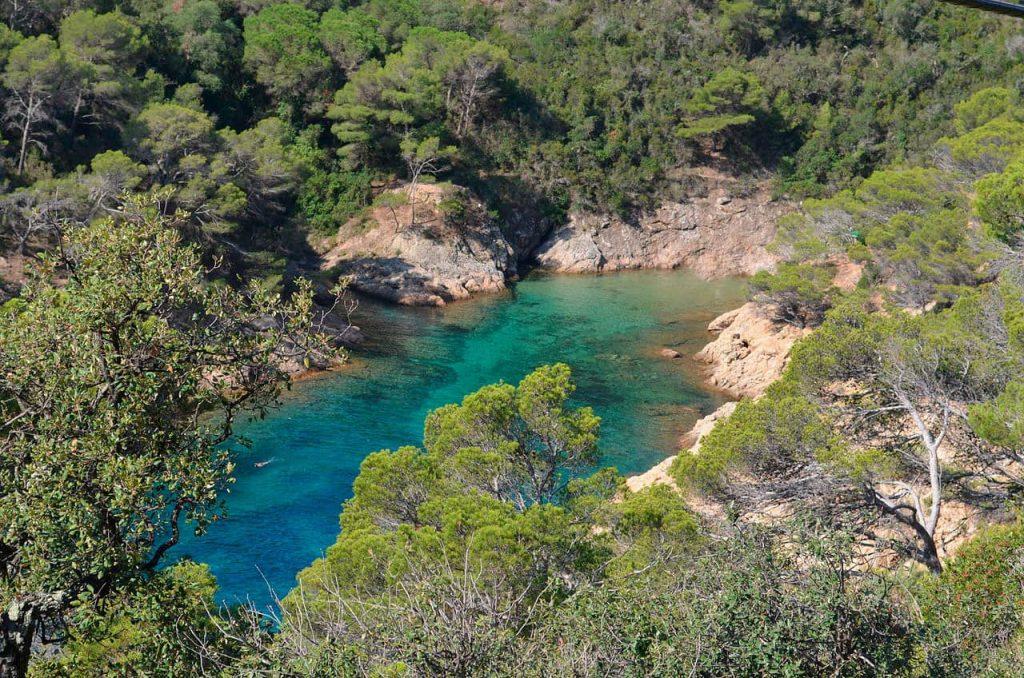 La playa Cala Bona se encuentra en el municipio de Tossa de Mar, perteneciente a la provincia de Girona y a la comunidad autónoma de Cataluña