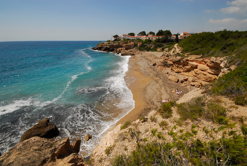 La playa Chelin / Xelin se encuentra en el municipio de L'Ametlla de Mar, perteneciente a la provincia de Tarragona y a la comunidad autónoma de Cataluña