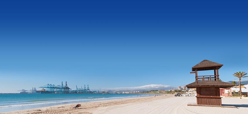 La playa El Rinconcillo se encuentra en el municipio de Algeciras, perteneciente a la provincia de Cádiz y a la comunidad autónoma de Andalucía