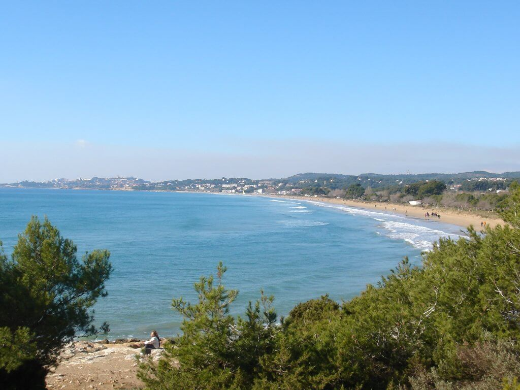 La playa Les Avellanes / Platja del Camping se encuentra en el municipio de L'Ampolla, perteneciente a la provincia de Tarragona y a la comunidad autónoma de Cataluña