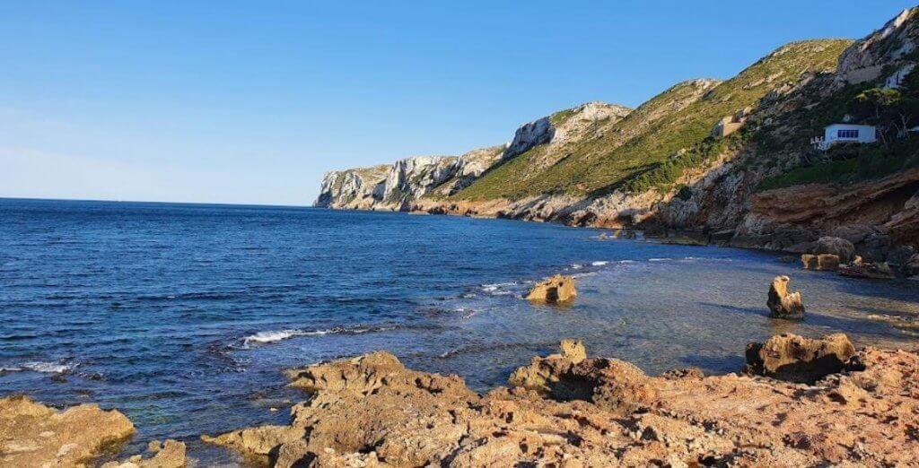 La playa Les Rotes / Punta negra / Raco del goset se encuentra en el municipio de Dénia, perteneciente a la provincia de Alicante y a la comunidad autónoma de Comunidad Valenciana
