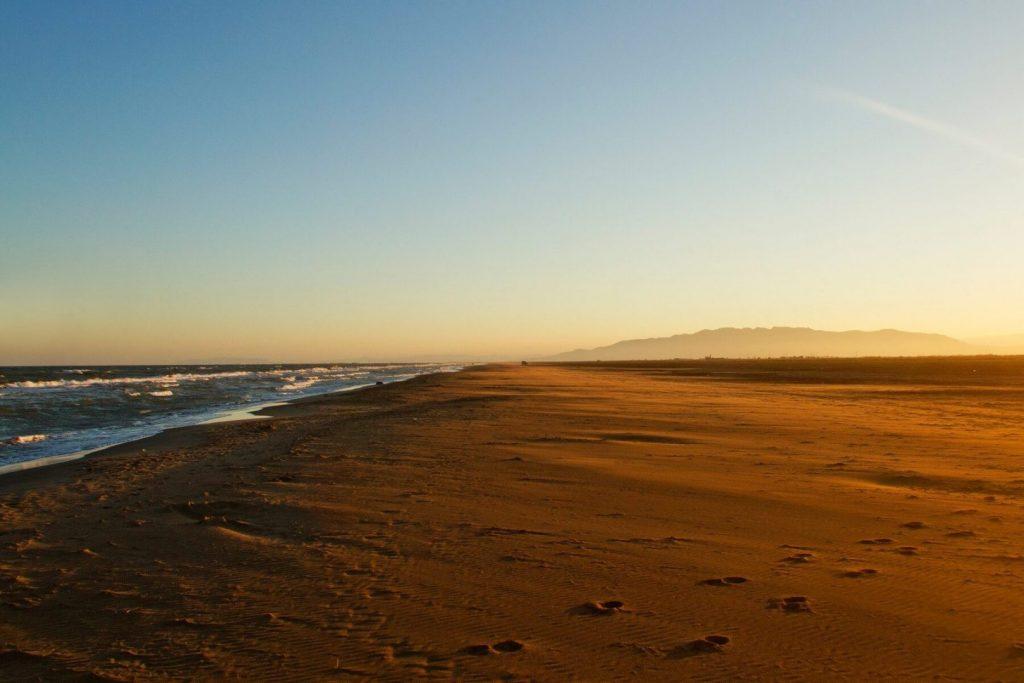 La playa Los Eucaliptos / Els Eucaliptus se encuentra en el municipio de Amposta, perteneciente a la provincia de Tarragona y a la comunidad autónoma de Cataluña