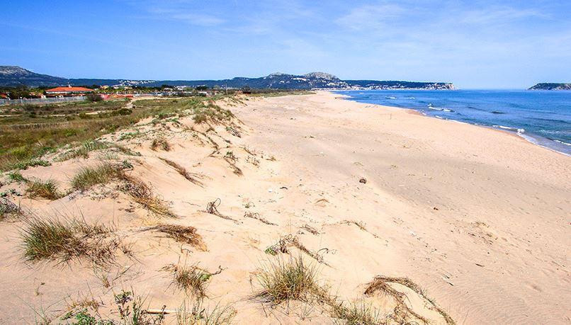 La playa Mas Pinell se encuentra en el municipio de Torroella de Montgr, perteneciente a la provincia de Girona y a la comunidad autónoma de Cataluña