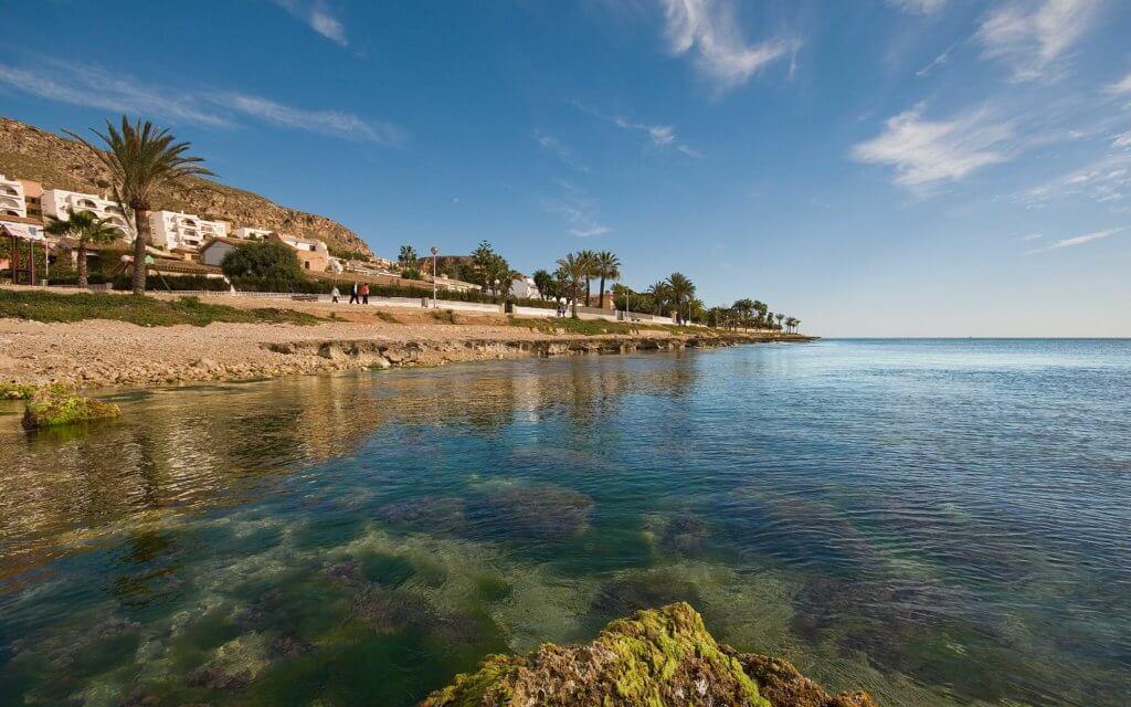 La playa Santa Pola del Este se encuentra en el municipio de Santa Pola, perteneciente a la provincia de Alicante y a la comunidad autónoma de Comunidad Valenciana